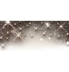 Winter festive luminous banner vector