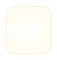 Button square cracks in the porcelain vintage vector