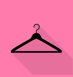 Hanger sign  black icon with flat vector