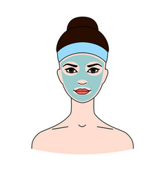 cosmetic therapeutic blue kaolin mask for face vector image