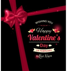Happy valentines day typographical holiday vector