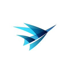 Airplane abstract logo vector