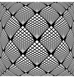 Design warped monochrome checked pattern vector
