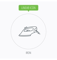 Iron icon ironing housework sign vector