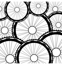 Bicycle wheel  bike wheels background vector