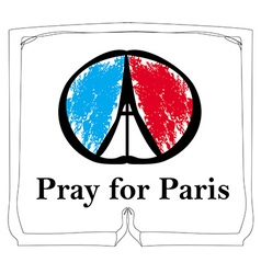 Pray for paris - card vector