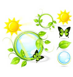 butterflies and sun vector image