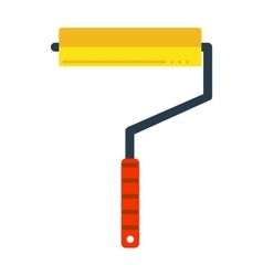 Paint roller icon flat vector