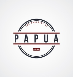 Papua badge indonesia label theme vector