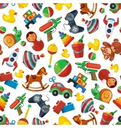 Toys seamless pattern for kids isolate on white vector image