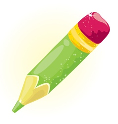 Small green pencil vector
