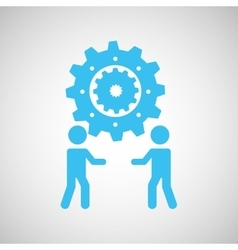 Business people teamwork connection vector