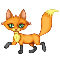 A cute little fox running high tail vector