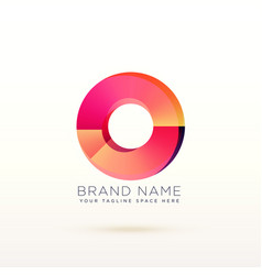 Abstract circle shiny logo concept design vector