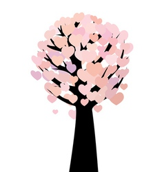 Abstract hearts tree vector image vector image