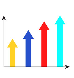 Arrow growth chart vector
