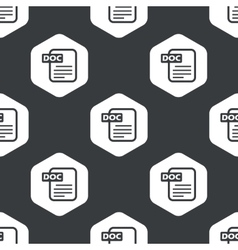Black hexagon DOC file pattern vector image vector image