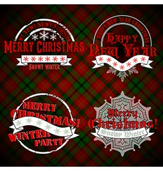 Christmas emblems and designs vector