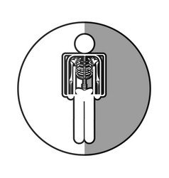 Circular frame shading with pictogram patient and vector