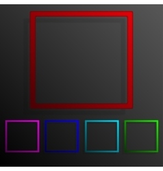 Color set square banners frame template design vector