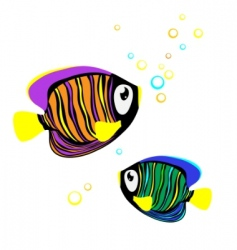 colored fish vector image vector image