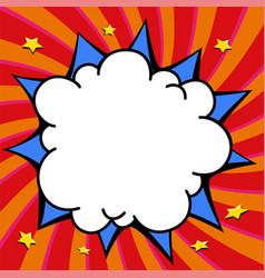 comics pop-art style empty bang shape on a multi vector image vector image