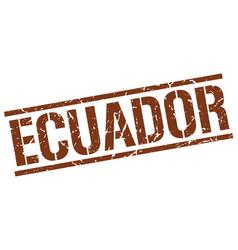 Ecuador brown square stamp vector