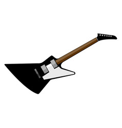 electric rock star guitar graphic vector image