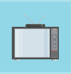 Flat icon retro tv vector