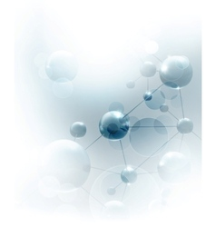 Futuristic background with molecules blue vector image