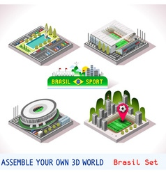 Game set 08 building isometric vector