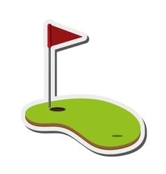 golf hole icon vector image