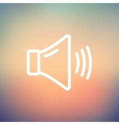 High speaker volume thin line icon vector image vector image