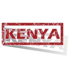 Kenya outlined stamp vector