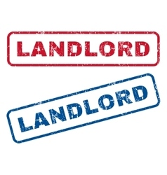 Landlord rubber stamps vector