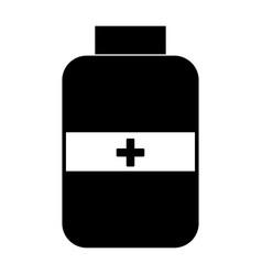 medicine bottle the black color icon vector image vector image