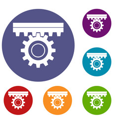 One gear icons set vector