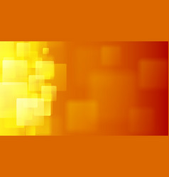 orange abstract background of blurry squares vector image vector image