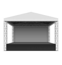 Outdoor concert stage vector image vector image