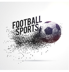 Particles forming football shape sports background vector