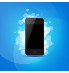 Phone And Bokeh vector image vector image