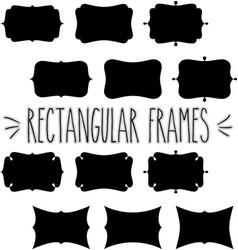 rectangular frame silhouette vector image vector image