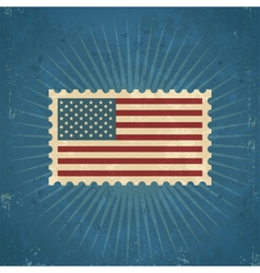 Retro United States Postage Stamp vector image vector image