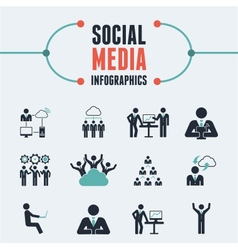 Social media infographic template vector