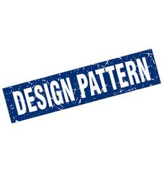 Square grunge blue design pattern stamp vector