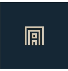 Unusual geometric letter a architecture vector