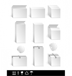 white box vector image vector image