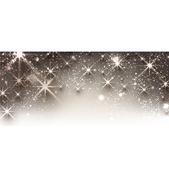 Winter festive luminous banner vector image vector image