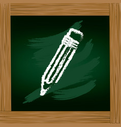 wooden frame with board with pencil drawing vector image