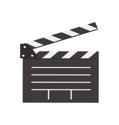 Open clapperboard icon vector